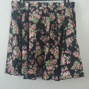 Sho Sho flared elastic waist floral skirt